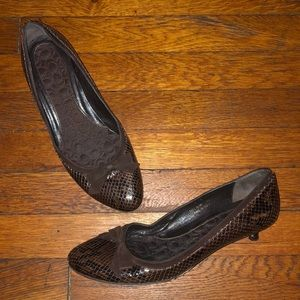 Coach snakeskin kitten heels brown 9 Italy Irina